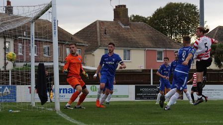 Mitchell Gough pulls one back for Kingstonian. Picture: Shirley D Whitlow