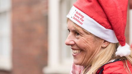 Fundraisers taking part in the 2016 'Walking Home For Christmas'. Photo: Walking With The Wounded