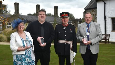Queen's Awards for Voluntary Services ceremony at The Great Hospital. The Lord Lieutenant of Norfolk