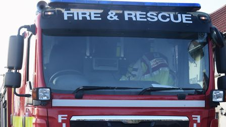 Fire crews are tackling a blaze in Red Lodge. Picture: Denise Bradley