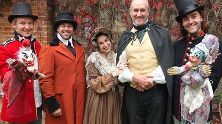 The cast of The Old Curiosity Shop from rural touring champions Common Ground theatre company. Photo