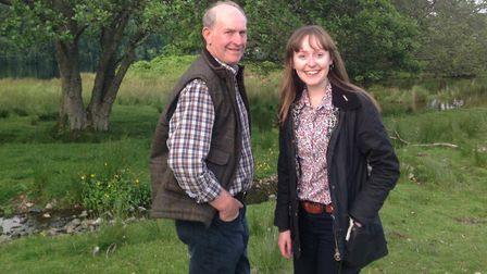University researcher Bethany Robertson with her father Ian Robertson.