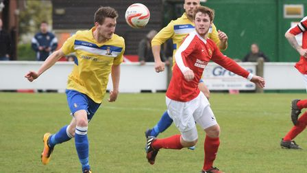 Adam Hipperson went close for Norwich United. Picture: DENISE BRADLEY
