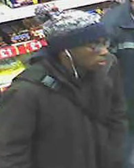 CCTV images of Owiodoho Ikidde in the McColls shop in Lowestoft Road, Gorleston, on the day he went