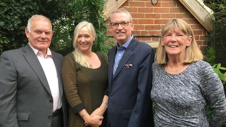 Four members of the Independent group on NNDC. L-R, John Rest, Georgie Perry-Warnes, Nick Coppack an