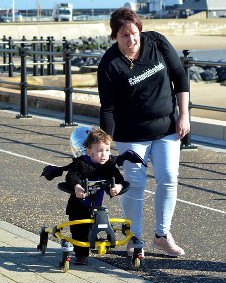 Cohen Messenger and his mother Kirstie. Photo: Mick Howes.