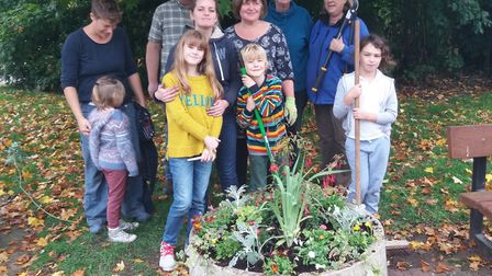 Volunteers from the Pride in Beccles gardening group. Picture: Courtesy of Elfrede Brambley-Crawshaw