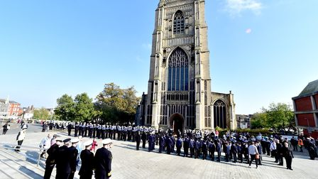 Sea Cadets from all over the county take part in the Trafalgar Day Parade.Picture: Nick Butcher
