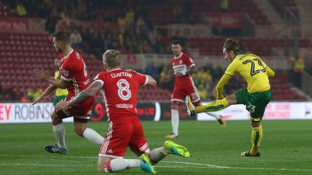 James Maddison fires the Canaries into an early lead at the Riverside Stadium.