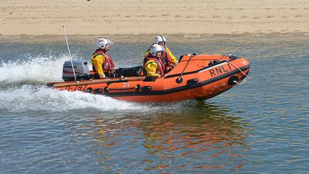 Wells Lifeboat assisted a yacht that had run aground. Picture: Chris Bishop