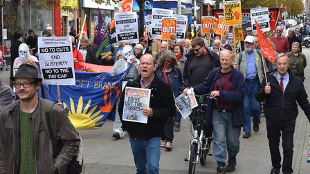 The Pay Gap March in Lowestoft. Pictures: Mick Howes