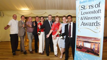 Sponsors of the Stars of Lowestoft and Waveney awards. Picture: Nick Butcher.