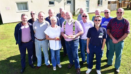 Members of the Ditchingham Men's Shed group are looking to build a workshop at the back of the villa