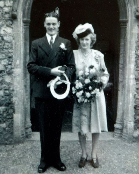 David and Dorothy Johnson celebrating their 70th wedding anniversary. Picture: supplied
