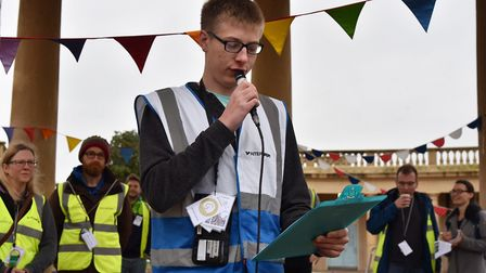 Archie Roques becomes the world's youngest park run director on his 18th birthday at the Junior Park