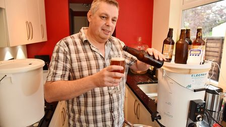 Home brewer Mark Cade has created a beer which will be on sale at this year's norwich beer festival,