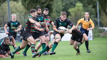 North Walsham on the front foot as they head for another excellent win. Picture: Hywel Jones