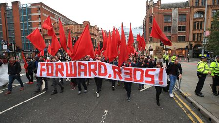 A day of protests overshadowed the opening of Tory conference in Manchester.