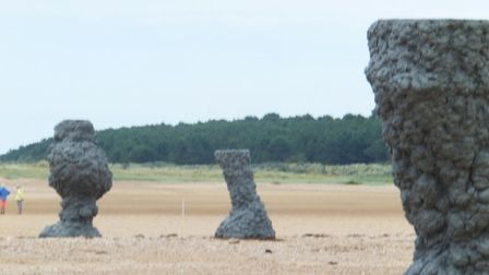 Annihilation filming at Holkham Beach. Photo: Pear Tree Cottage Bed and Breakfast