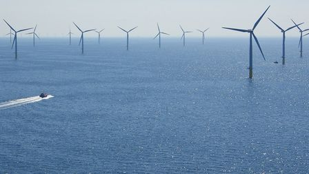 DONG Energy's Walney wind farm, 19km off the Cumbrian coast. Pic: DONG.