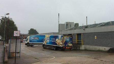 Lorries at the Allied Bakeries depot in Diamond Road on the Vulcan Road Industrial Estate in Norwich
