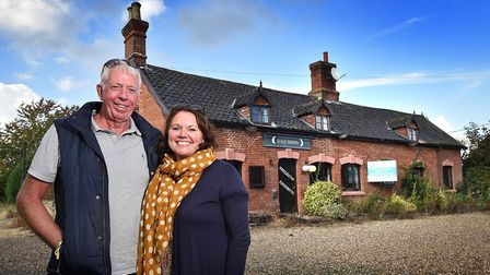The new owners of the Half Moon pub in Rushall, husband and wife Ray Paul and Sarah Campbell-Jones.
