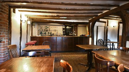 Inside the Half Moon pub which has been closed for a year but is set to reopen in December. Picture
