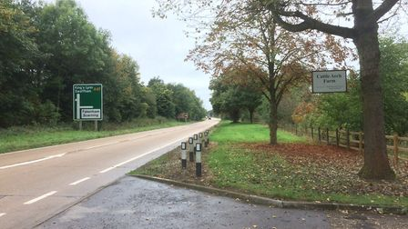 The area of the A47 at Scarning where the fatal crash happened. Picture Ian Clarke.
