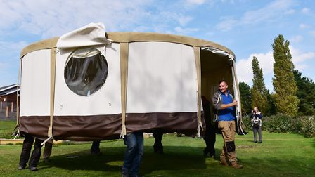 James Knight from Waveney River Centre is in dispute with the Broads Authority over Yurts that have
