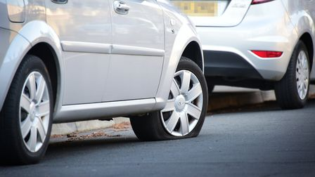 The tyres of 28 cars were slashed in 10 Lowestoft roads. Picture: ANTONY KELLY