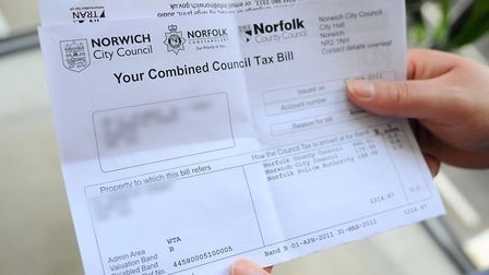 Norfolk County Council is planning for a 4.9pc council tax increase. Picture: Denise Bradley