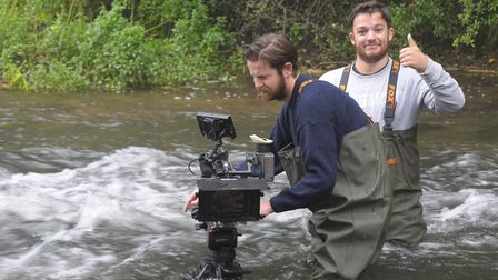 Some hairy Wye filming moments. Picture: John Bailey