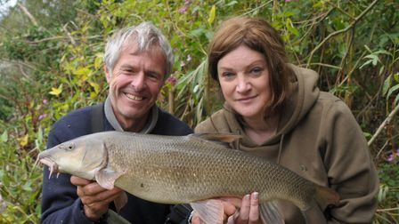 John Bailey and Kate prove even the mighty barbel can be fooled into making a mistake. Picture: John