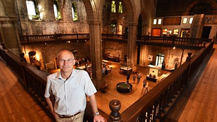 Dr John Davies, project director for Norwich Castle keep project. Picture : ANTONY KELLY