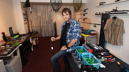 Hooked fishing tackle shop in Stalham. Owner Tim Tarrant. Picture : ANTONY KELLY