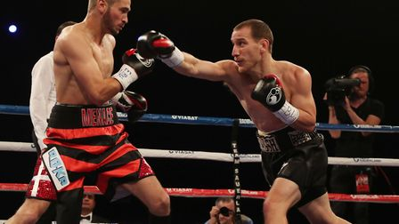 Ryan Walsh in action against Dennis Ceylan in October last year. Picture: Photo Wende