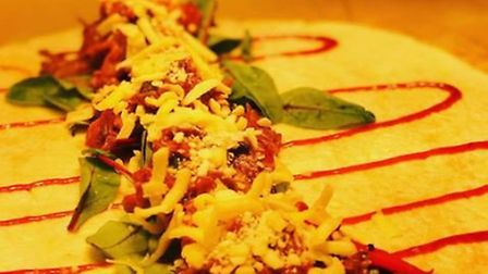 A wrap created at Deli Nourish on Prince of Wales Road, a new local independent business. Photo: Del