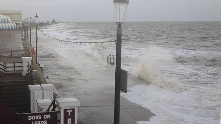 Stormy seas are predicted at Hunstanton. Picture: Chris Bishop