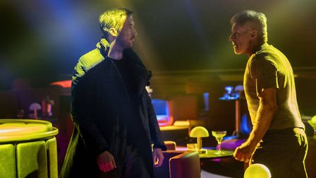Ryan Gosling as K and Harrison Ford as Deckard in Blade Runner 2049. Photo: Alcon Entertainment, LLC