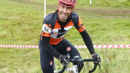 Vets 50+ winner Jimmy Piper makes light of a climb at the VC Revolution Cyclo-Cross. Picture: Fergu