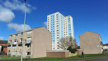 St Peters Court in Lowestoft was given a high fire risk rating in 2017 and concerns were also raised