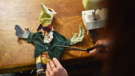 Norwich Puppet Theatre. Dressing a puppet in the workshop.Picture: ANTONY KELLY