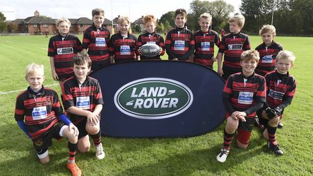 Wymondham's youngsters enjoy their day at Franklin's Gardens. Picture: Sportsbeat/Roberto Payne