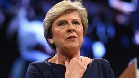 Prime Minister Theresa May delivers her keynote speech at the Conservative Party Conference at the M