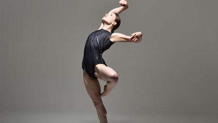 A dynamic solo in Joss Arnott's dance work V which forms part of his anniversary show 5/0. Photo: Br