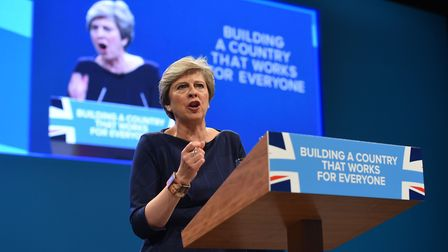 Prime Minister Theresa May delivers her keynote speech at the Conservative Party Conference, where s
