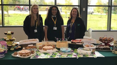 Students and staff from the Norfolk campus of Easton and Otley College baked cakes in preparation fo