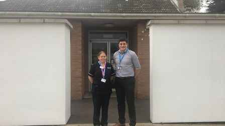Operational manager Iain Young with matron Anita Martins. Picture: Eleanor Pringle