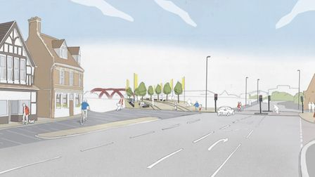 North Quay view towards bridge. Picture: courtesy of Norfolk County Council
