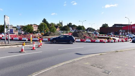 Fullers Hill roundabout, Yarmouth.Picture: Nick Butcher